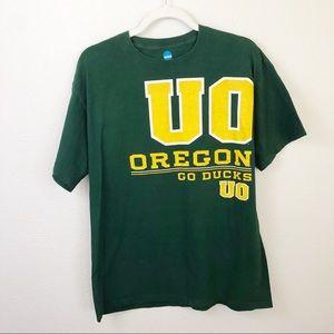 NCAA University of Oregon Ducks green t-shirt